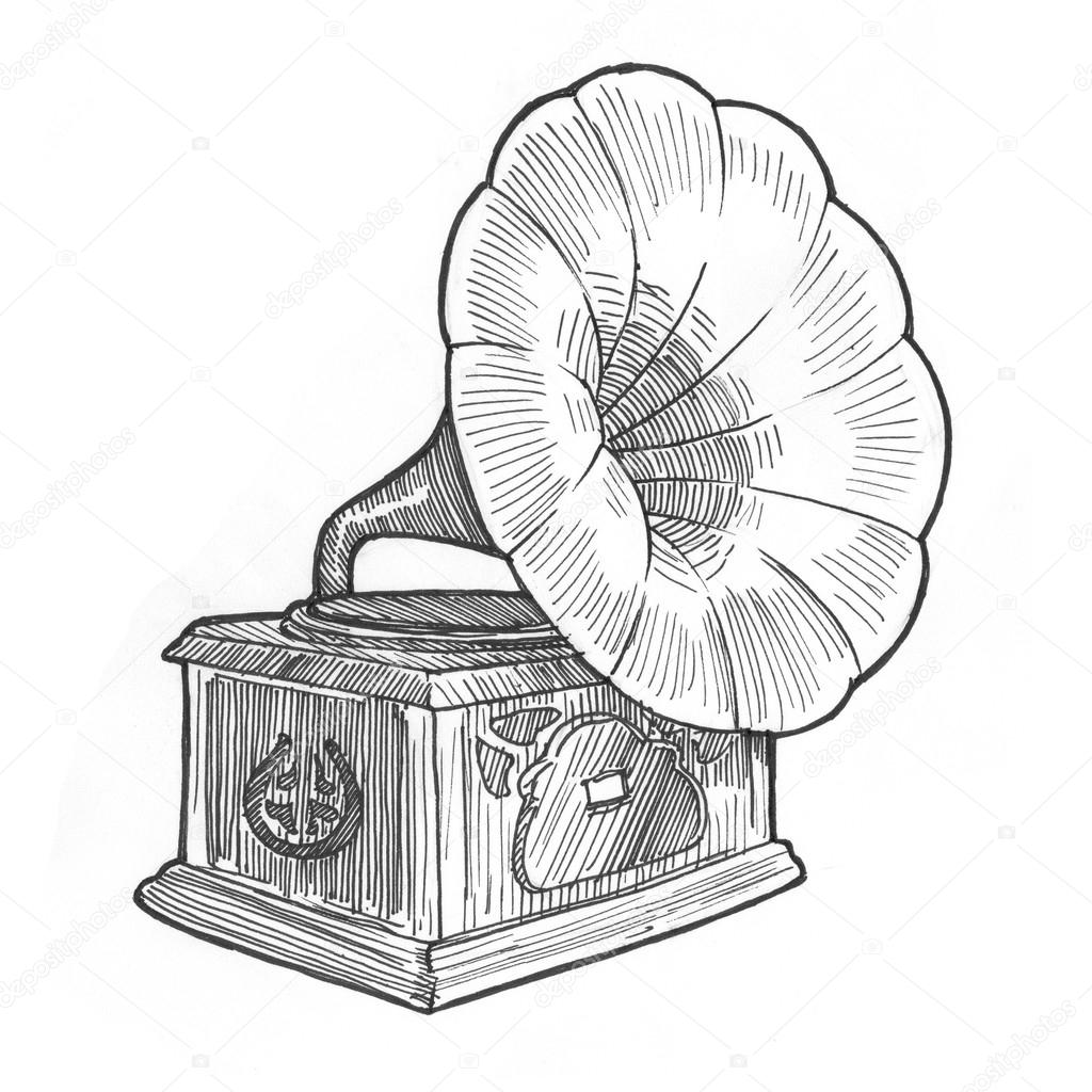 1024x1024 Retro Vintage Gramophone Stock Photo Sentavio