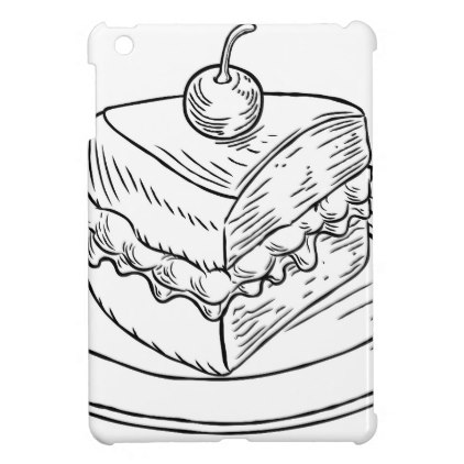 422x422 Cake Slice Vintage Retro Woodcut Style Ipad Mini Cases