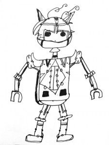 Retro Robot Drawing
