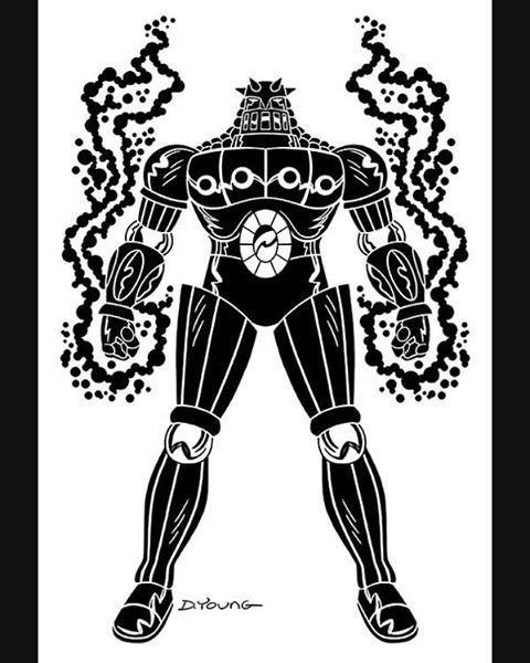 480x600 Darryl Young Design Baron Karza Black And White