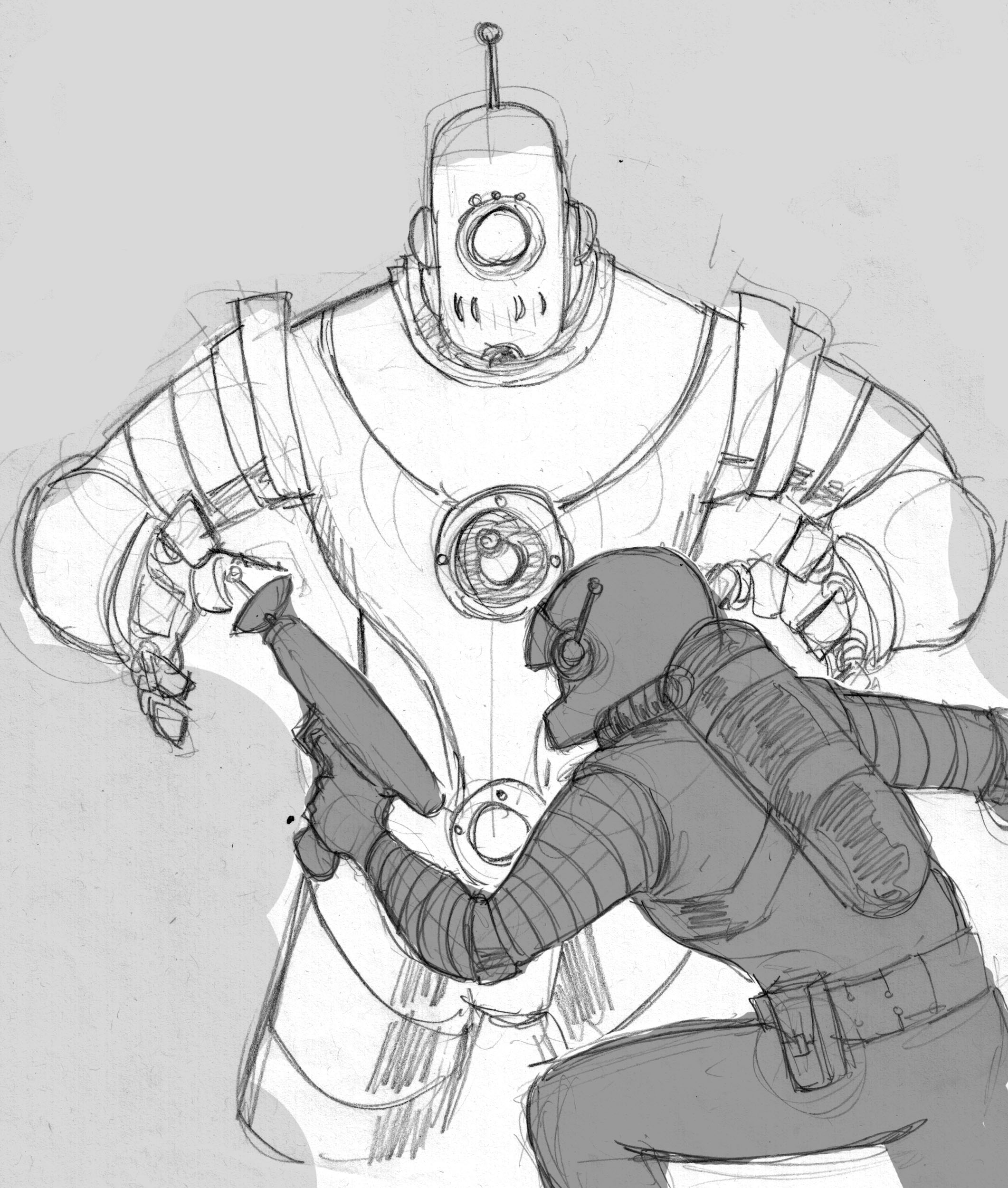 2122x2501 Killer Robots From Outer Space! The Sketch Bin