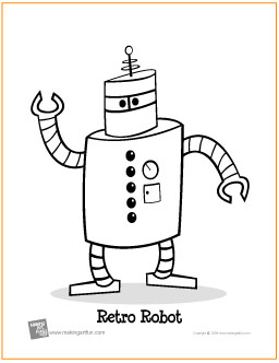 256x332 Retro Robot Learn To Draw Project