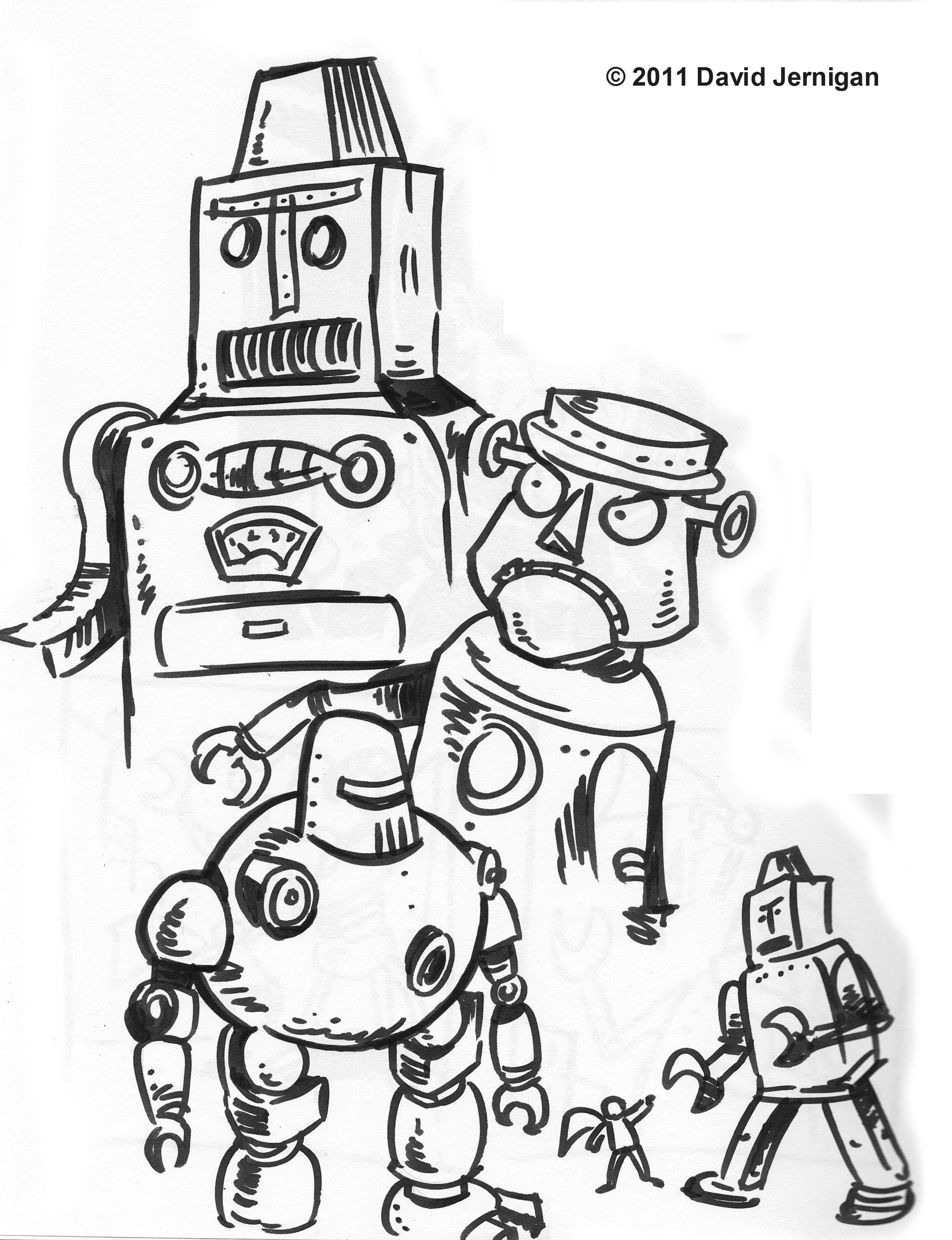 2479x3229 Retro Robot Sketcharound