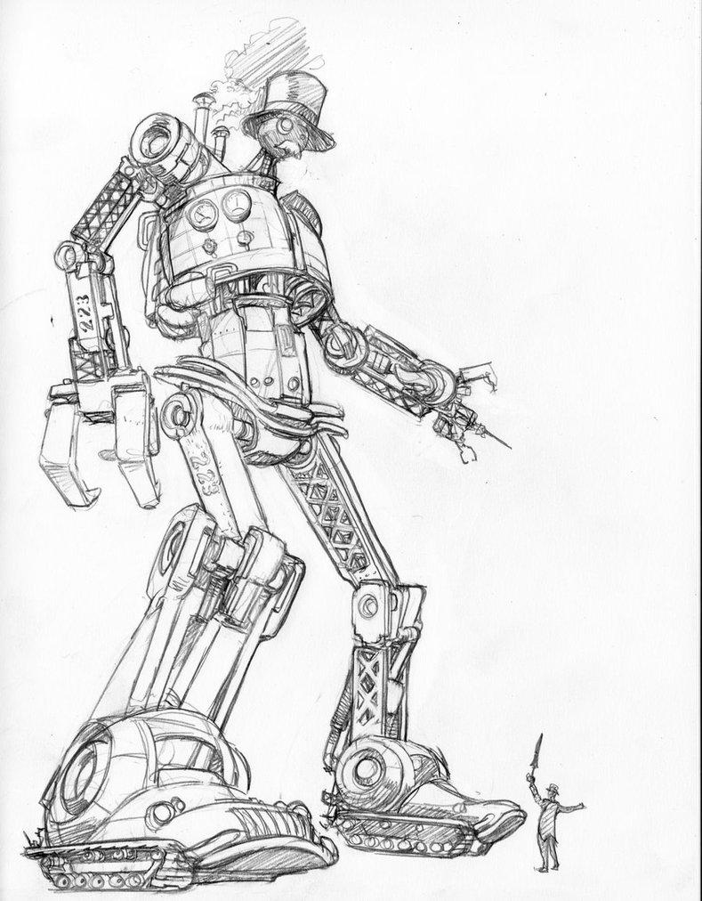 789x1012 Retro Robot By Simonfraser