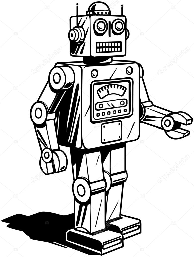 Retro robot drawing at getdrawings free for personal use retro 773x1024 retro robot stock vector retroclipart malvernweather Gallery