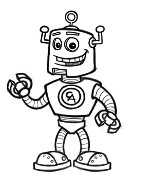 500x640 Robot Cartoon Character Mascot Design
