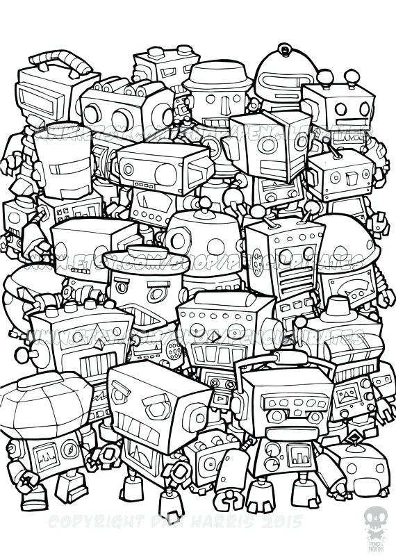 570x806 Robot Coloring Book Robot Coloring Pages To Print Robot Coloring