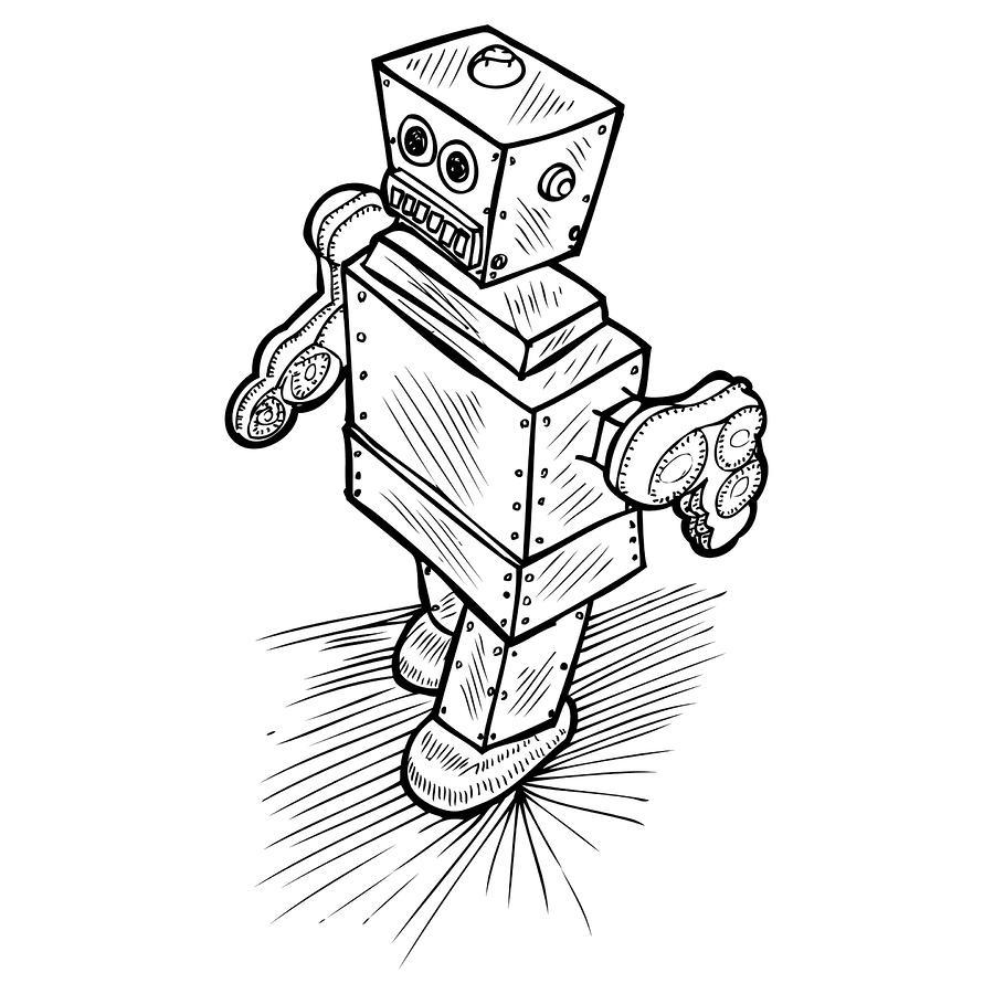 900x900 Robot Drawing
