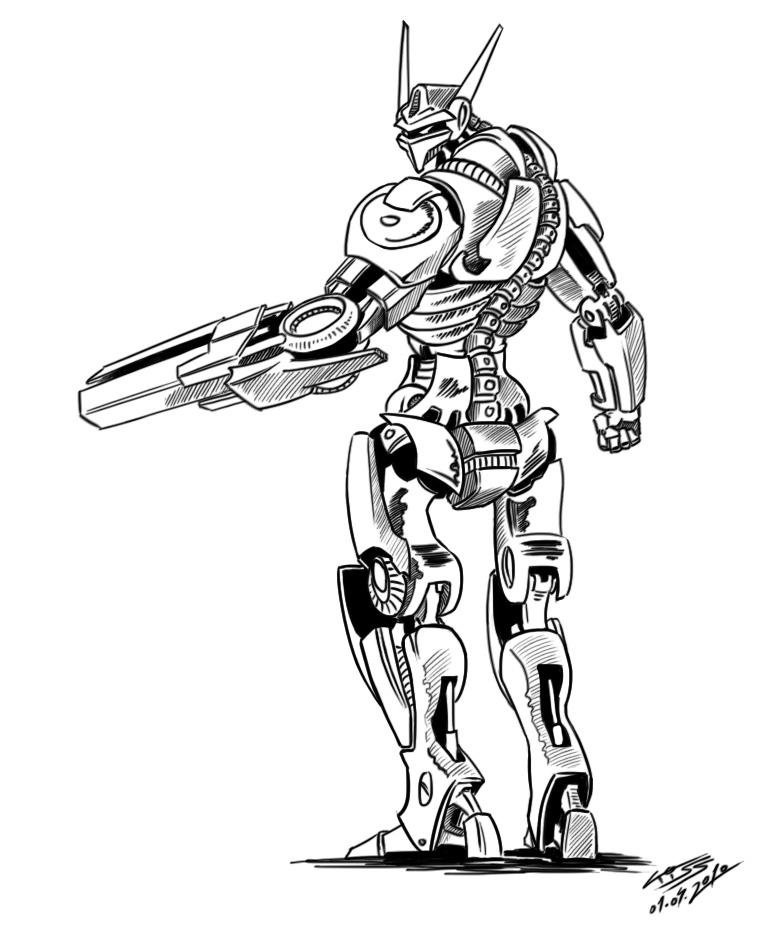 764x935 Robot Drawings