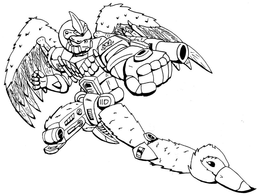 1024x768 Bw Retro Robot By Trice01