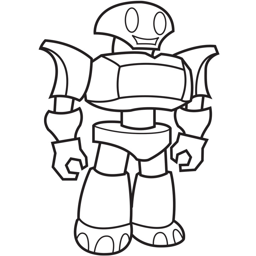 Awesome 842x842 Coloring Pages Endearing Coloring Pages Draw Robots Coloring