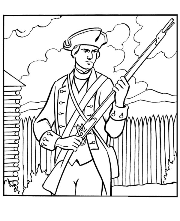 600x734 Coloring Pages Exquisite Revolutionary War Coloring Pages 2 Page