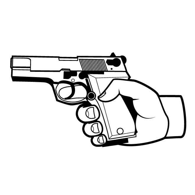 660x660 Revolver Hand Gun Car Decal Sticker Ebay