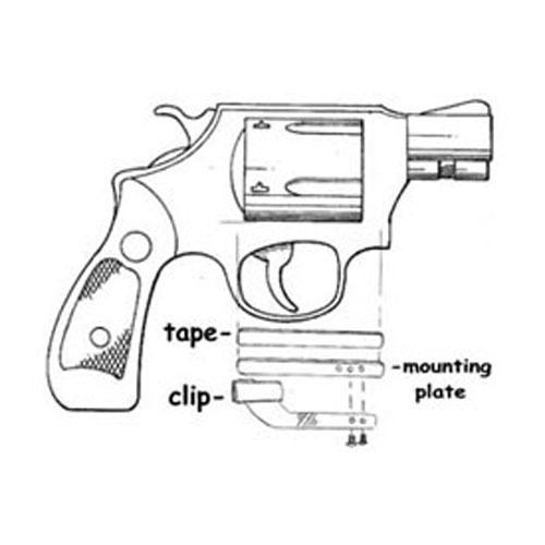 500x500 Clipdraw Universal Clipdraw Revolver Handgun Silver Firearm