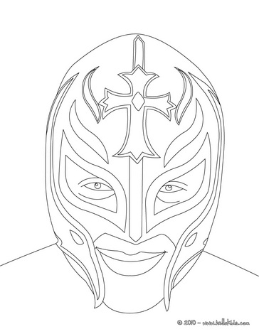364x470 Wrestler Rey Misterio Coloring Page It's A Party