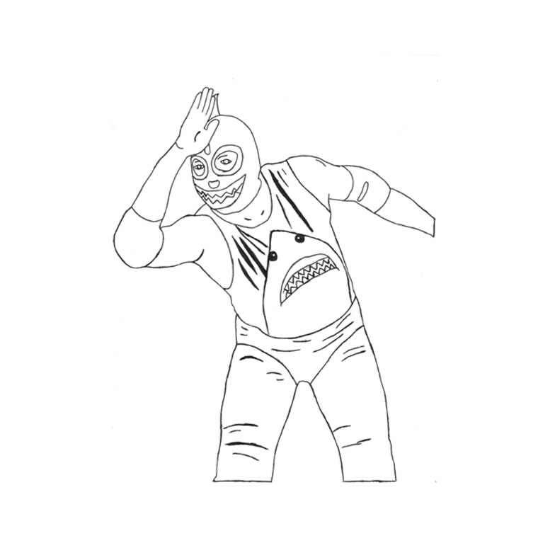 760x760 wwe superstars coloring pages rey mysterio mask