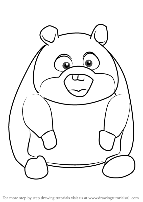 566x800 Learn How To Draw Rhino From Bolt (Bolt) Step By Step Drawing