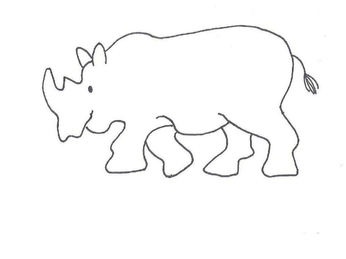 Rhino Cartoon Drawing at GetDrawings.com | Free for personal use ...