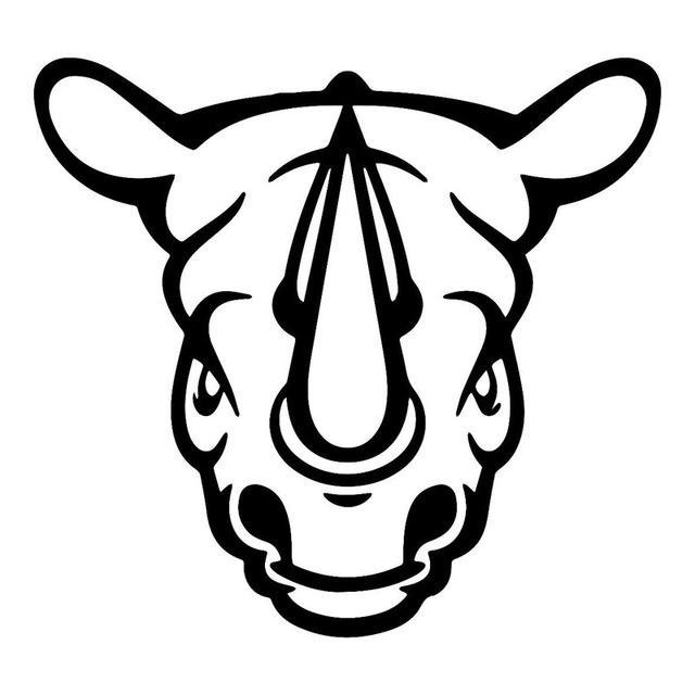 Rhino Head Drawing