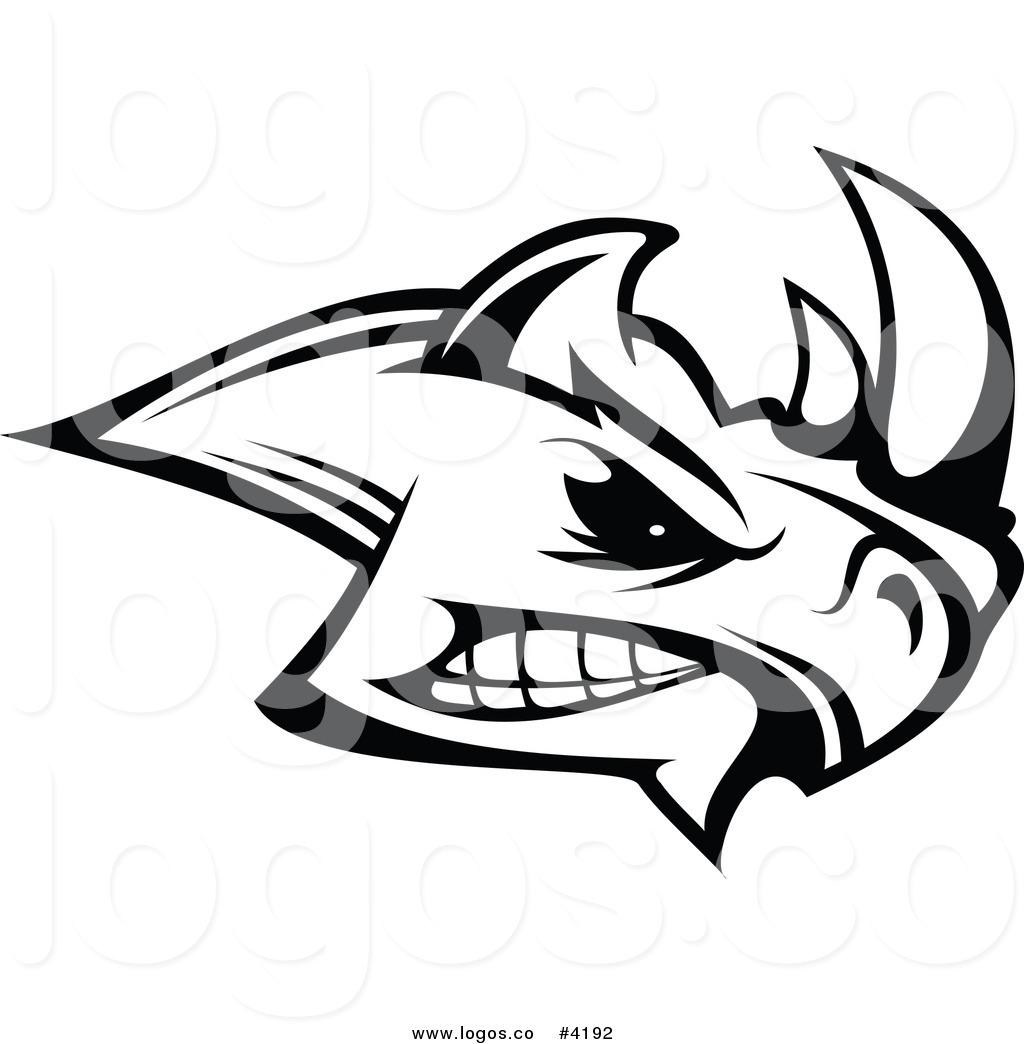 1024x1044 Royalty Free Mad Rhino Logo By Vector Tradition Sm