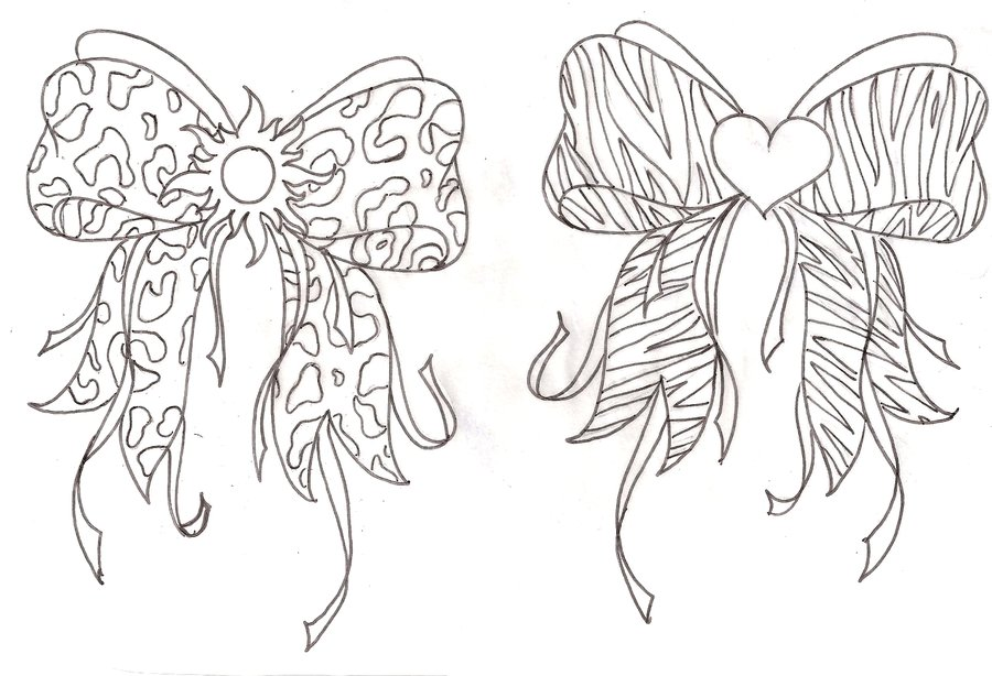 900x614 2 Simple Bow Tattoo Designs And Idea