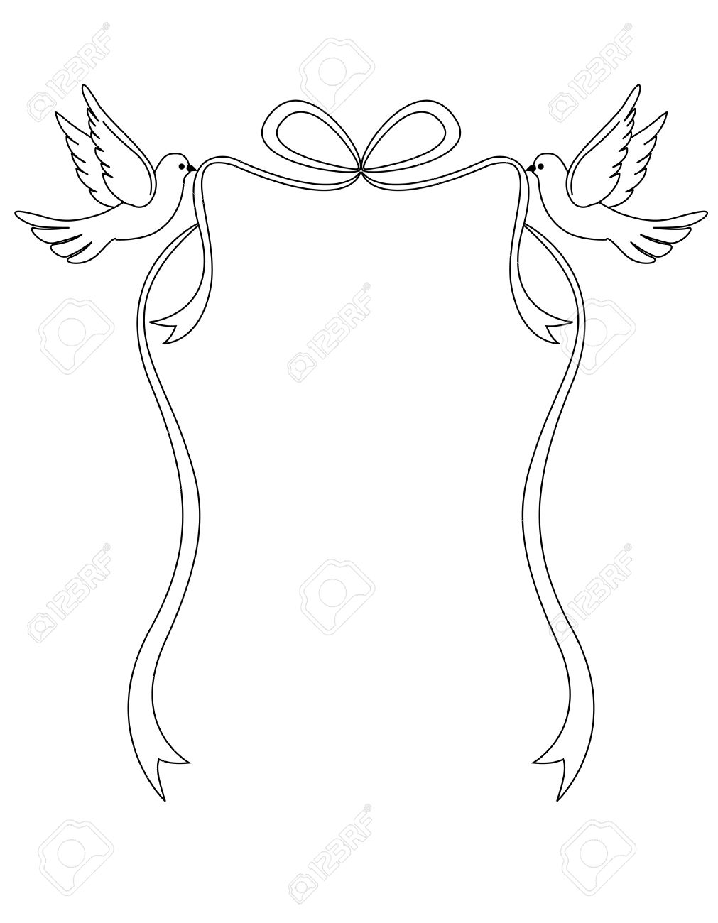 1011x1300 Dove Clipart Ribbon