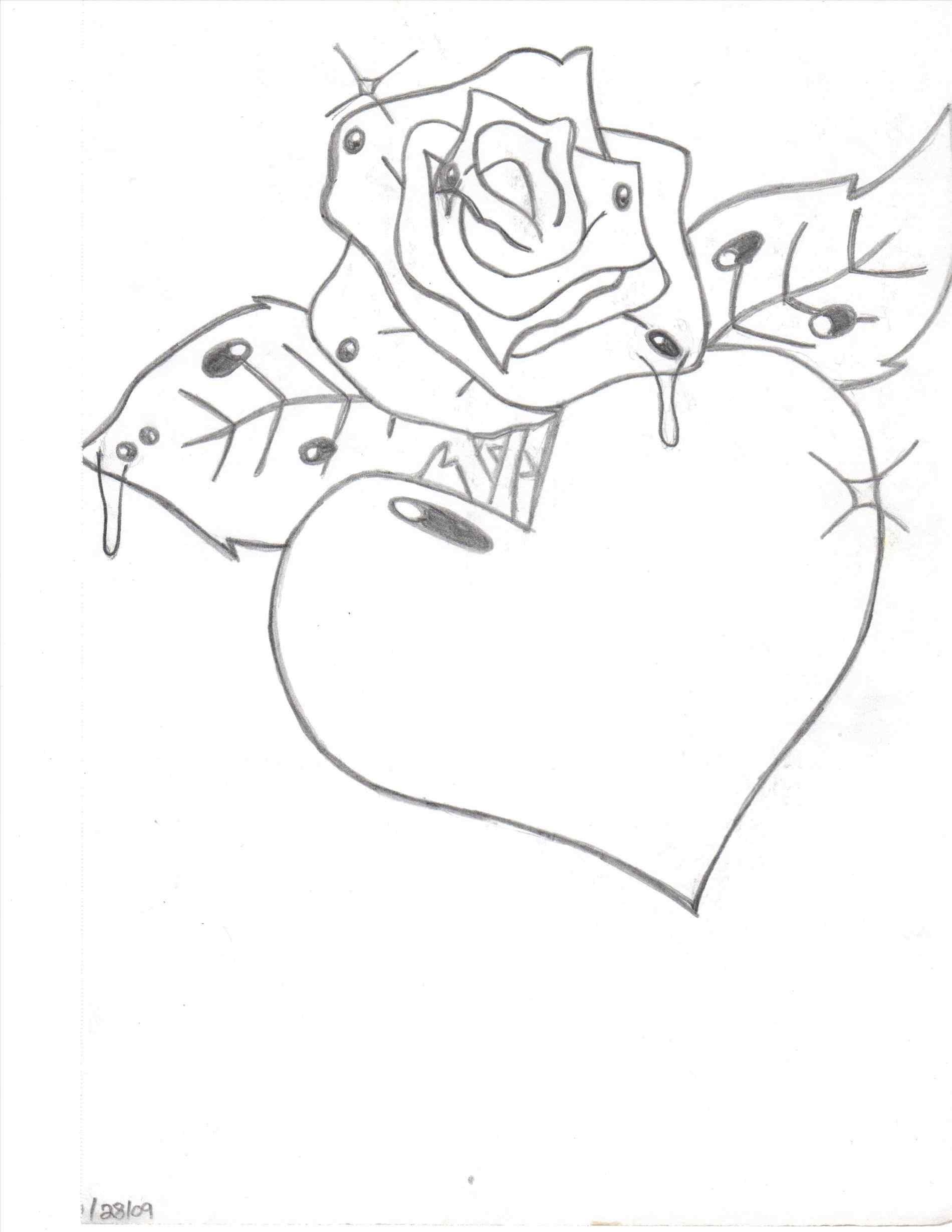 1900x2458 How Draw A Flower Heart For Mom How
