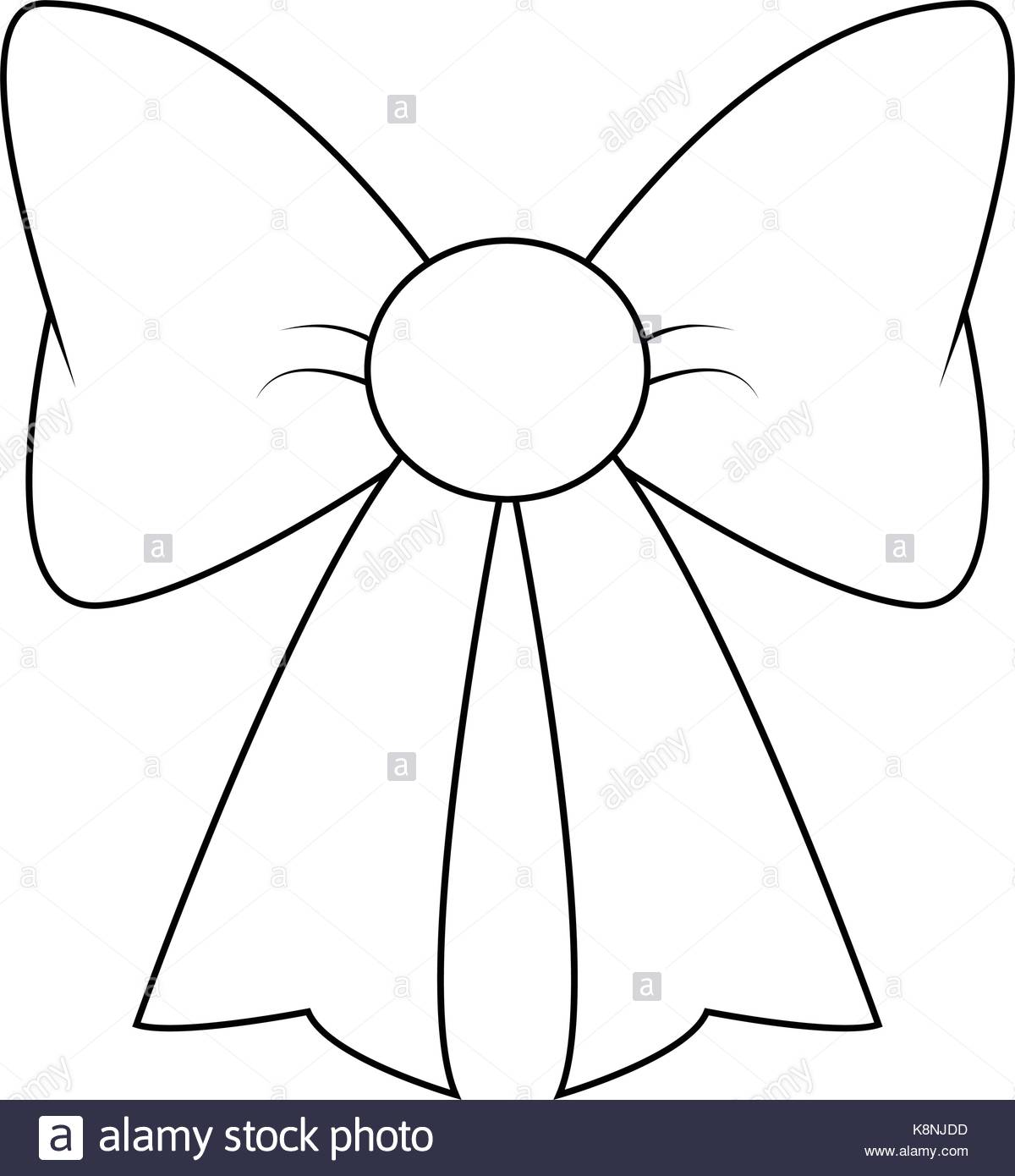 1200x1390 Ribbon Bow Silhouette For Christmas Present Symbol Design. Vector