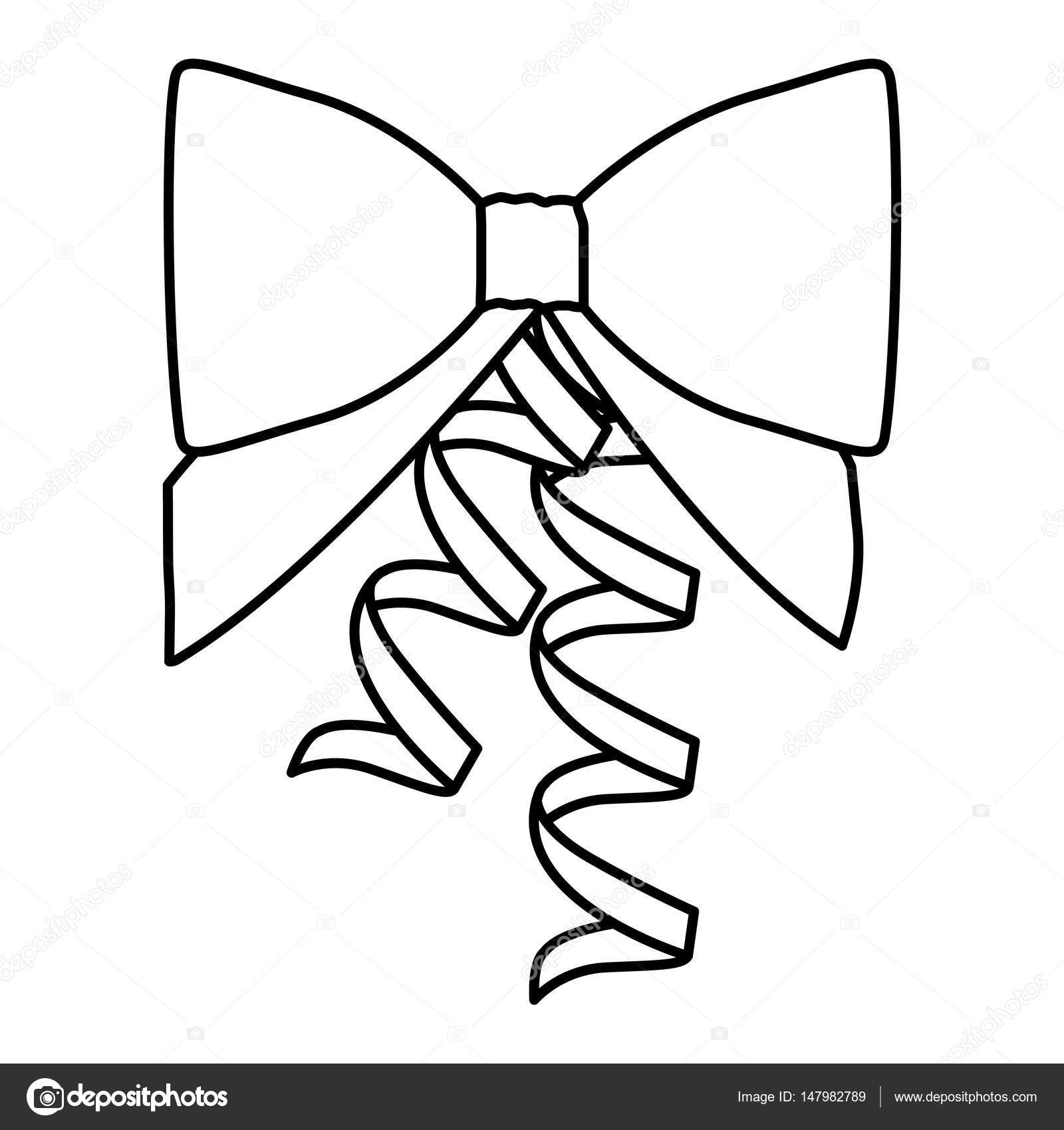 1600x1700 Silhouette Ribbon With Holding Bow Stock Vector Grgroupstock