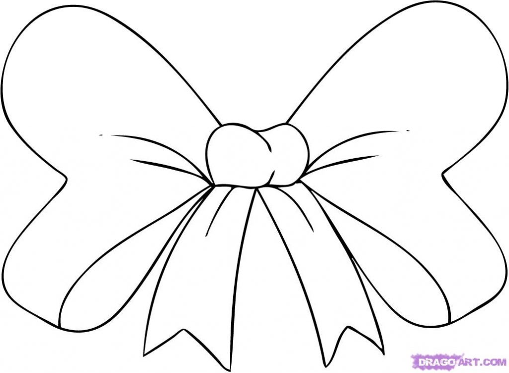 1024x750 Bows Coloring Pages