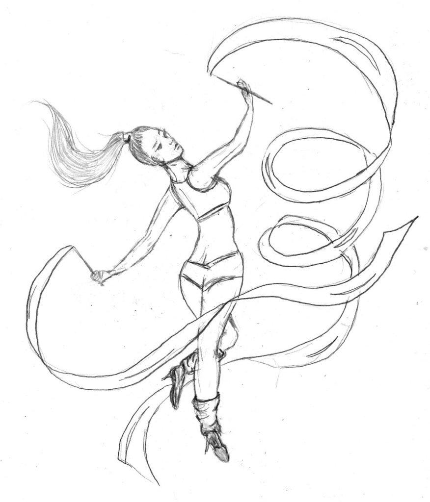 876x1024 Ribbon Dancer By Violet Amastacia