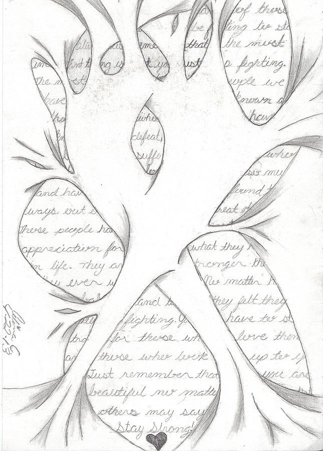 645x900 Ribbon Drawing By Alina T