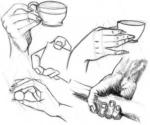 302x252 How To Draw Realistic Hands, Draw Hands, Step By Step, Hands