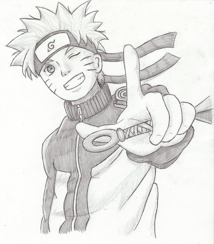 837x954 Pencil Shading Of Happy Birthday Naruto Drawing Picture Kids