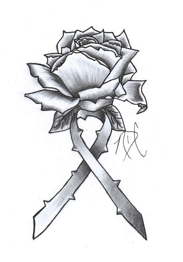 600x859 Drawn Cross Ribbon Rose