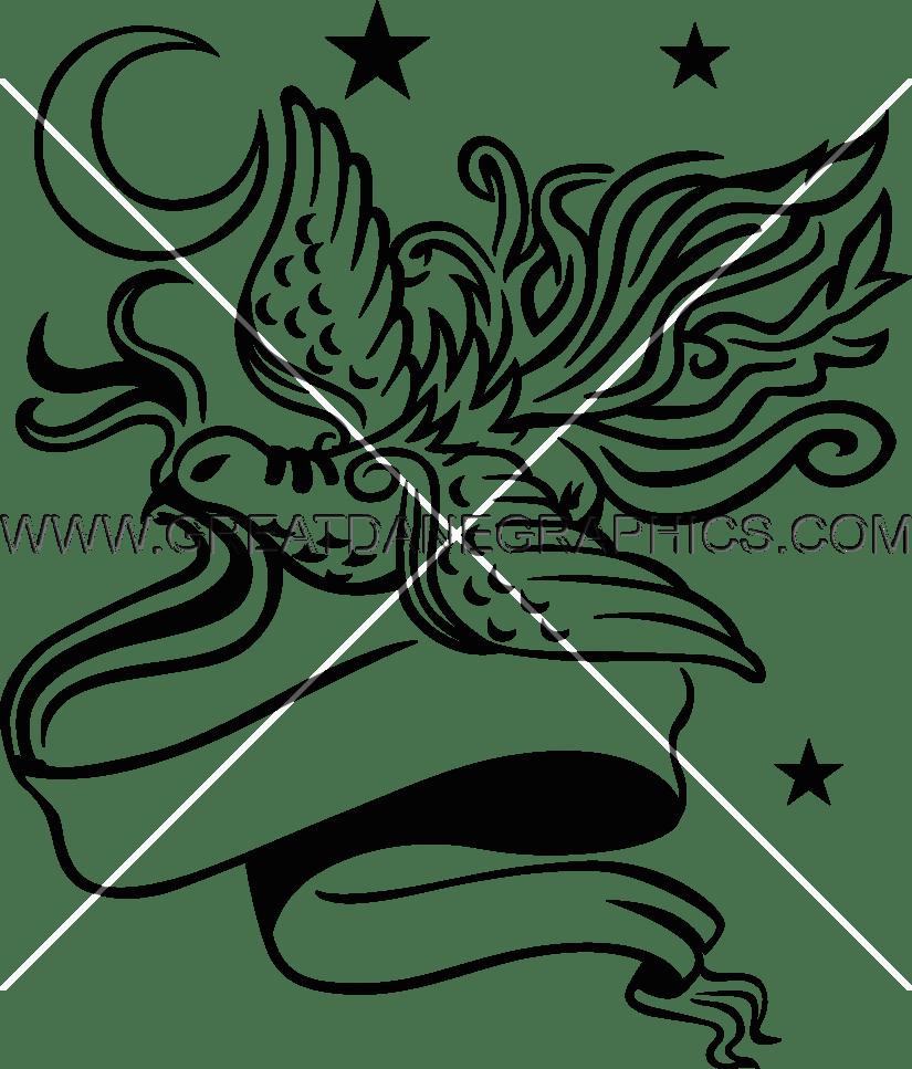 825x967 Ribbon Bird Production Ready Artwork For T Shirt Printing