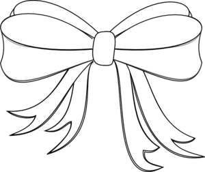 300x252 White Ribbon Bow Clip Art