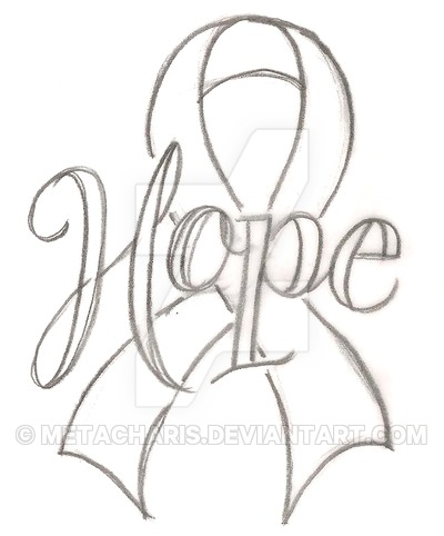400x482 Hope Cancer Ribbon Tattoo By Metacharis