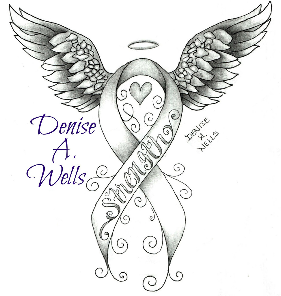 973x1024 Strength Awareness Ribbon Tattoo Design By Denise A.