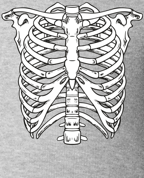 484x600 Skeleton Rib Cage Skull Chest Baby Bodysuit Teeshirtpalace