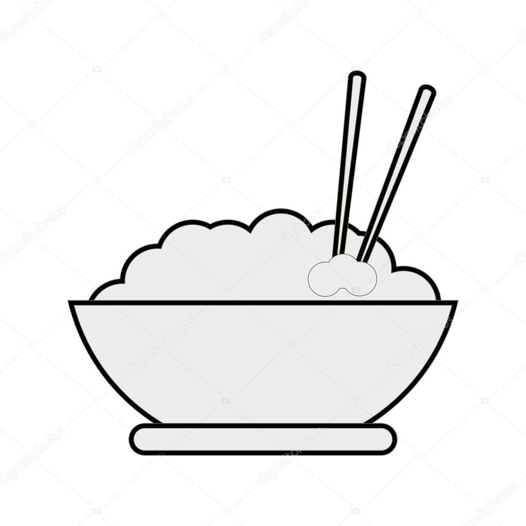 1024x1024 Rice Bowl Icon Stock Vector Jemastock