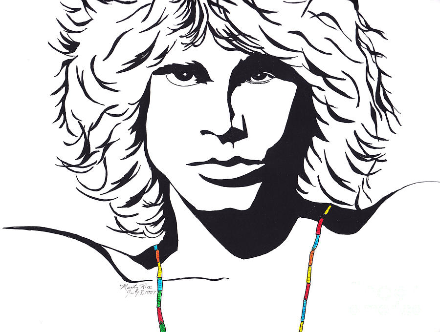 900x680 Jim Morrison Drawing By Marty Rice