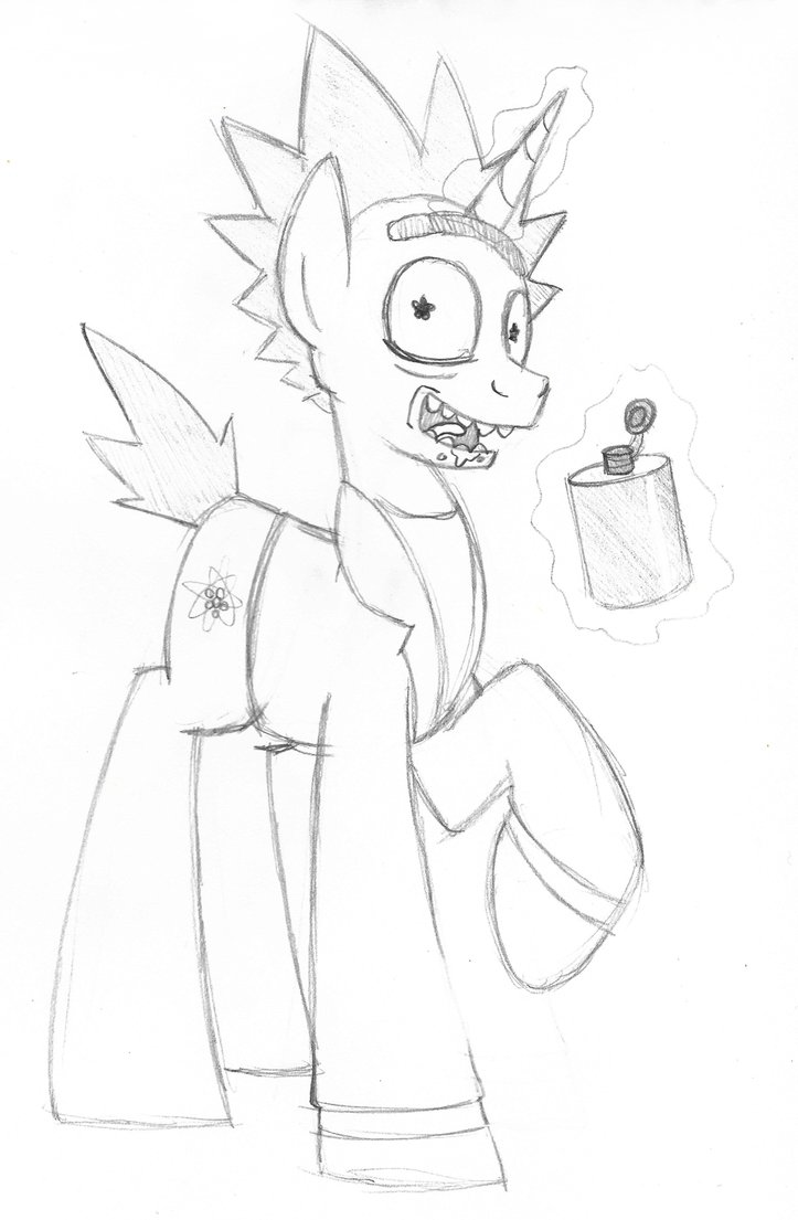 723x1105 Rick And Morty Mlp Crossover By Artwork Tee