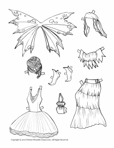 230x300 Fairy Dresses Drawing