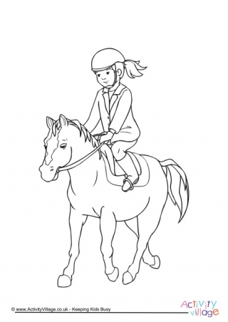 Riding A Horse Drawing at GetDrawings.com | Free for personal use ...