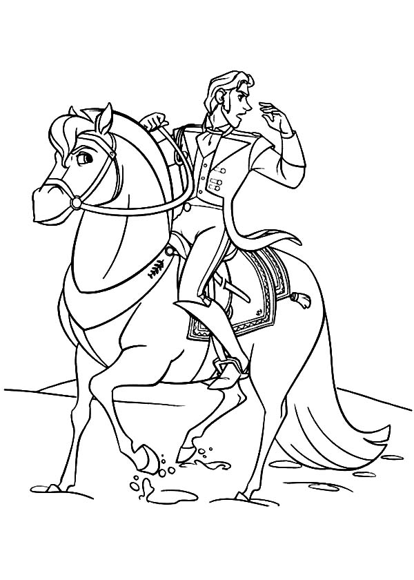 600x840 Prince Hans Ride His Horse Coloring Pages Prince Hans Ride His