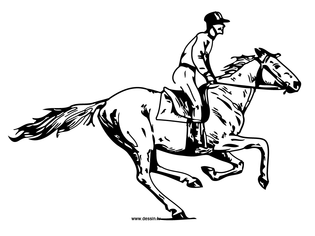 Cowboy Riding Horse Coloring Pages