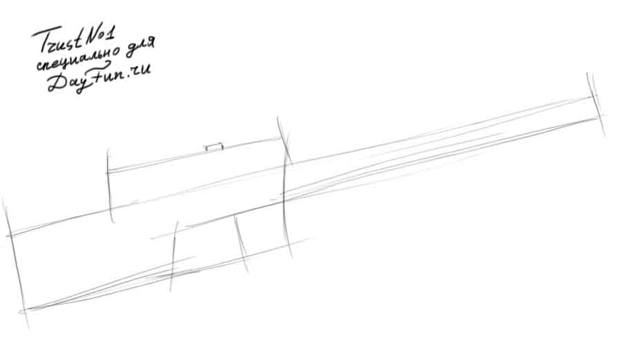 893x500 How To Draw A Rifle Step By Step