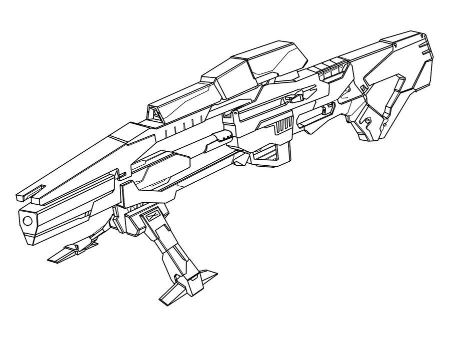 Sniper Outline Drawings