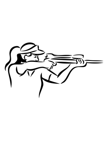 360x480 Shooting Sniper Rifle Coloring Page Free Printable Coloring Pages